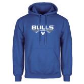 Royal Fleece Hoodie-Bulls Football Horizontal w/ Ball