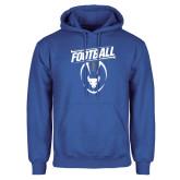 Royal Fleece Hoodie-Bulls Football Vertical w/ Ball