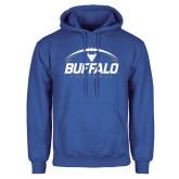 Royal Fleece Hoodie-Buffalo Football Under Ball