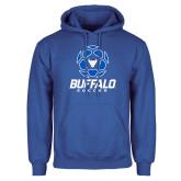 Royal Fleece Hoodie-Buffalo Soccer Geometric Ball