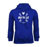 Royal Fleece Hoodie-Buffalo Baseball w/ Seams