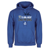 Royal Fleece Hoodie-2018 Mens Basketball Champions - Stacked