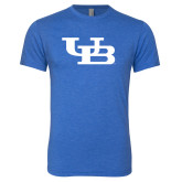 Next Level Vintage Royal Tri Blend Crew-Interlocking UB