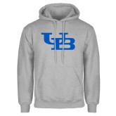 Grey Fleece Hoodie-Interlocking UB