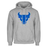 Grey Fleece Hoodie-Bull Spirit Mark