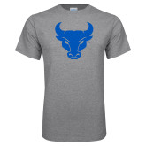 Grey T Shirt-Bull Spirit Mark