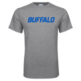Grey T Shirt-Buffalo Word Mark