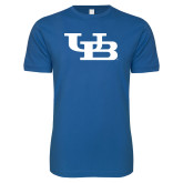 Next Level SoftStyle Royal T Shirt-Interlocking UB