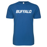 Next Level SoftStyle Royal T Shirt-Buffalo Word Mark