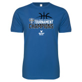 Next Level SoftStyle Royal T Shirt-2018 Mens Basketball Champions - Stacked