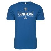 Next Level SoftStyle Royal T Shirt-2018 Mens Basketball Champions - Box