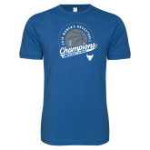 Next Level SoftStyle Royal T Shirt-2019 Womens Basketball Champions