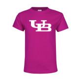 Youth Cyber Pink T Shirt-Interlocking UB