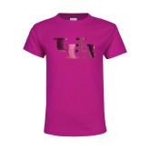 Youth Cyber Pink T Shirt-Interlocking UB Foil