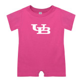 Bubble Gum Pink Infant Romper-Interlocking UB