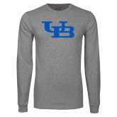 Grey Long Sleeve T Shirt-Interlocking UB
