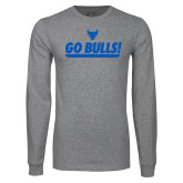 Grey Long Sleeve T Shirt-Go Bulls