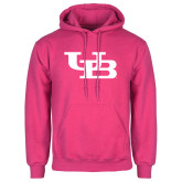 Fuchsia Fleece Hoodie-Interlocking UB