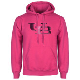Fuchsia Fleece Hoodie-Interlocking UB Foil