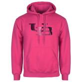 Fuchsia Fleece Hoodie-Interlocking UB Foil