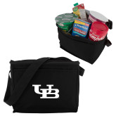 Koozie Six Pack Black Cooler-Interlocking UB