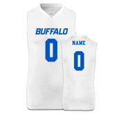 Replica White Adult Basketball Jersey-Buffalo in 2935 blue