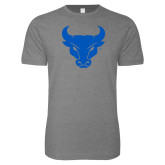 Next Level SoftStyle Heather Grey T Shirt-Bull Spirit Mark