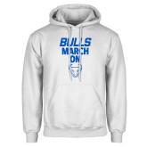 White Fleece Hoodie-Bulls March On