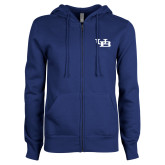 ENZA Ladies Royal Fleece Full Zip Hoodie-Interlocking UB