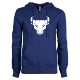 ENZA Ladies Royal Fleece Full Zip Hoodie-Bull Spirit Mark