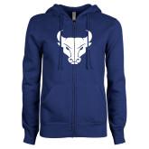 ENZA Ladies Royal Fleece Full Zip Hoodie-Bull Spirit Mark