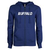 ENZA Ladies Royal Fleece Full Zip Hoodie-Buffalo Word Mark