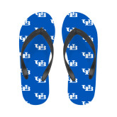 Ladies Full Color Flip Flops-Interlocking UB