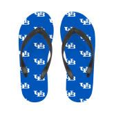 Ladies Full Color Flip Flops-Interlocking UB