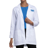 Ladies White Lab Coat-Interlocking UB
