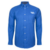 Mens Royal Oxford Long Sleeve Shirt-Interlocking UB