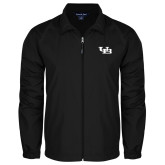 Full Zip Black Wind Jacket-Interlocking UB