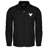 Full Zip Black Wind Jacket-Bull Spirit Mark