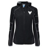 Columbia Ladies Sweet As Black Hooded Jacket-Bull Spirit Mark