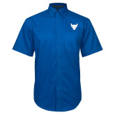 Royal Twill Button Down Short Sleeve-Bull Spirit Mark