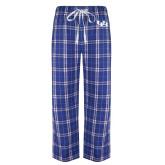 Royal/White Flannel Pajama Pant-Interlocking UB