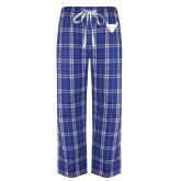 Royal/White Flannel Pajama Pant-Bull Spirit Mark