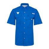 Columbia Bonehead Royal Short Sleeve Shirt-Bull Spirit Mark