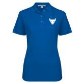 Ladies Easycare Royal Pique Polo-Bull Spirit Mark