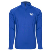 Sport Wick Stretch Royal 1/2 Zip Pullover-Interlocking UB