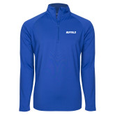 Sport Wick Stretch Royal 1/2 Zip Pullover-Buffalo Word Mark