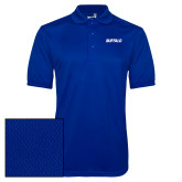 Royal Dry Mesh Polo-Buffalo Word Mark