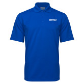Royal Mini Stripe Polo-Buffalo Word Mark
