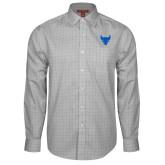 Red House Grey Plaid Long Sleeve Shirt-Bull Spirit Mark
