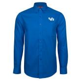 Red House French Blue Long Sleeve Shirt-Interlocking UB